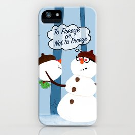 Funny Snowman Holiday Design iPhone Case