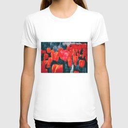 Tulip Field at Night T-shirt