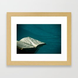 Reading in the Water Framed Art Print