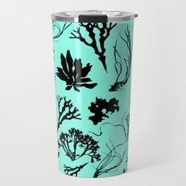 Seaweed Mint Green Pattern Travel Mug