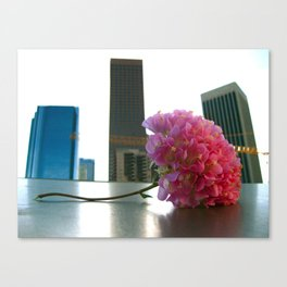 Flower in the LA Skyline Canvas Print