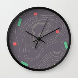 Map land color pattern Wall Clock