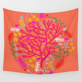 Folk Tree Wall Tapestry