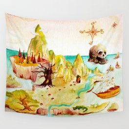 Peter Pan Map Wall Tapestry