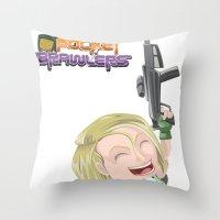 valentina Throw Pillows featuring Lola Valentina  by PocketBrawlers