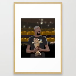 A new king is crowned in the NBA Framed Art Print