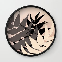Boho Leaves Wall Clock