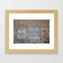 jerusalem, jericho Framed Art Print