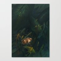 fishing Canvas Prints featuring Fishing by sandara