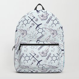 science graph paper Backpack