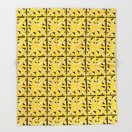 symetric patterns 89-mandala,geometric,rosace,harmony,star,symmetry Throw Blanket