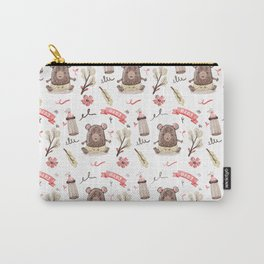 Cute Baby Pattern Bear Design. Carry-All Pouch