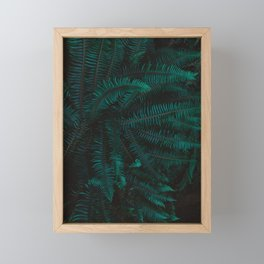 Blue Fern Twilight Framed Mini Art Print
