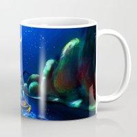 aladdin Mugs featuring Starry Night Aladdin by ThreeBoys