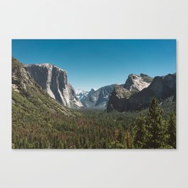 Tunnel View, Yosemite National Park V Canvas Print