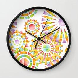 Sunburst Rainbows Wall Clock