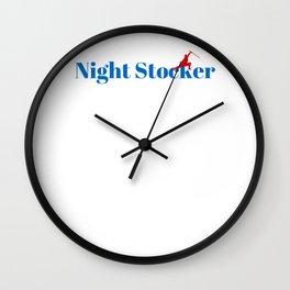 Night Stocker Ninja in Action Wall Clock
