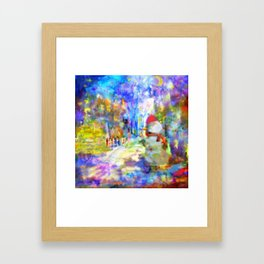 Be Happy in New 2016 Year ! Framed Art Print