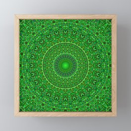 Spiritual Forest Garden Mandala Framed Mini Art Print