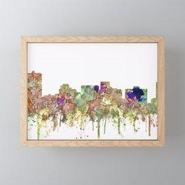 Arlington, Texas Skyline - Faded Glory Framed Mini Art Print