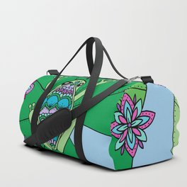 Frog and Lily Pads Duffle Bag
