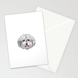 Matlipoo Mom For Life Maltese Poodle Mixed Dog Pun Stationery Cards