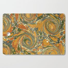 Old Marbled Paper 03 Cutting Board