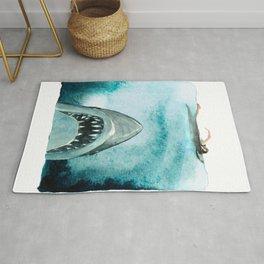 Shark Attack 70s movie Ocean Rug