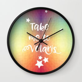 Take Me To Velaris - Night Court Print -A Court of Mist and Fury Rainbow Wall Clock