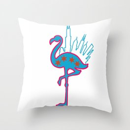 Bird In Da Big City Throw Pillow