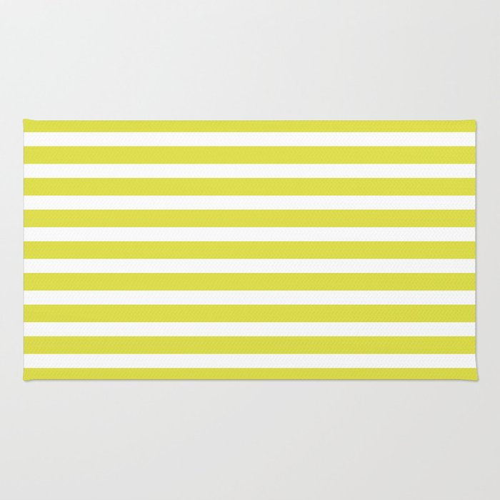 Pastel Yellow Stripes Rug