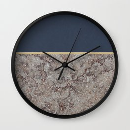 Blue Meets Brown Gray Concrete #1 #decor #art #society6 Wall Clock
