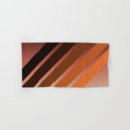 Brown Colored Retro Stripes Hand & Bath Towel