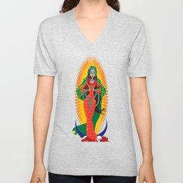 La Virgen de Guadalupe Unisex V-Neck