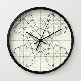Geometry Sketch Nine Wall Clock