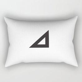 Right triangle mark Rectangular Pillow