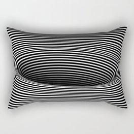 Black Hole Vertigo Rectangular Pillow