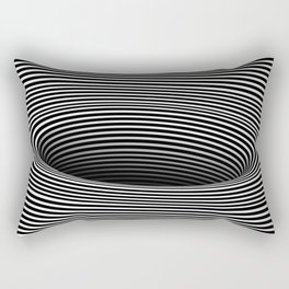 Black Hole Vertigo Rectangular Pillow