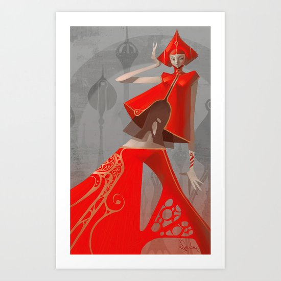Pepper Fashion Art Print