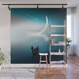 Close to the moon Wall Mural