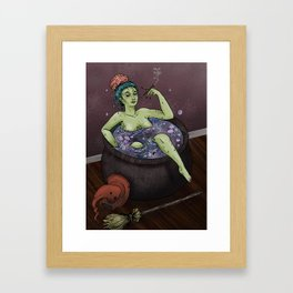 Witch Bath Framed Art Print