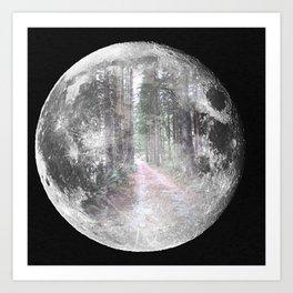 Moon Path Art Print