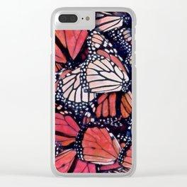 Monarch Butterflies II Clear iPhone Case