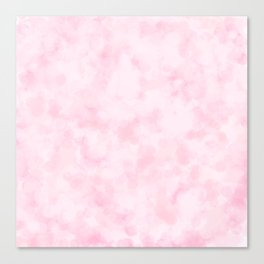 Strawberry Champagne Bubbles - Pale Pink Canvas Print