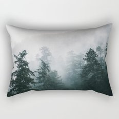 Forest Fog IX Rectangular Pillow