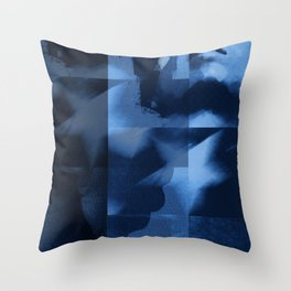 commie blue Throw Pillow