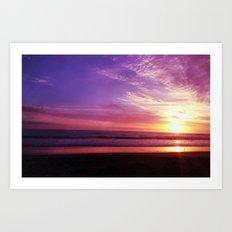 Photography + Color - Purple Daze Art Print