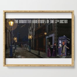 The 13th Doctor and the Paternoster Detective Agency Serving Tray