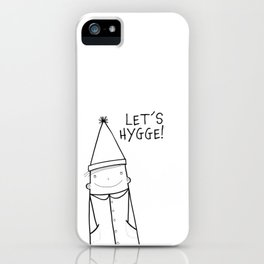 Scandinavian Hygge illustration art iPhone Case
