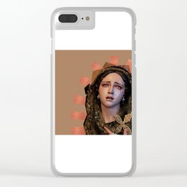 Our Lady of Sorrows. Clear iPhone Case